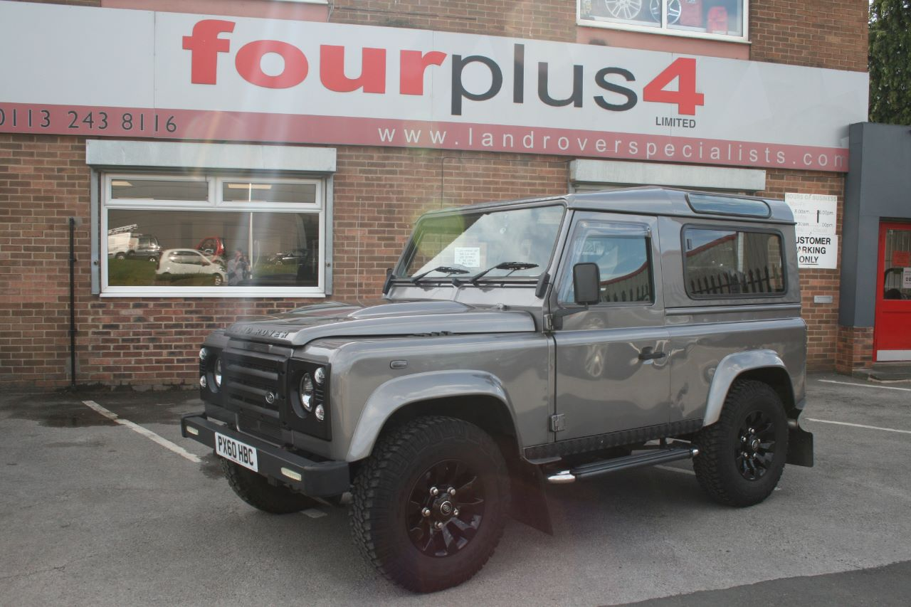 Land Rover Defender 2.4 90 Hard Top TDCi Four Wheel Drive Diesel Grey at Four Plus 4 Leeds
