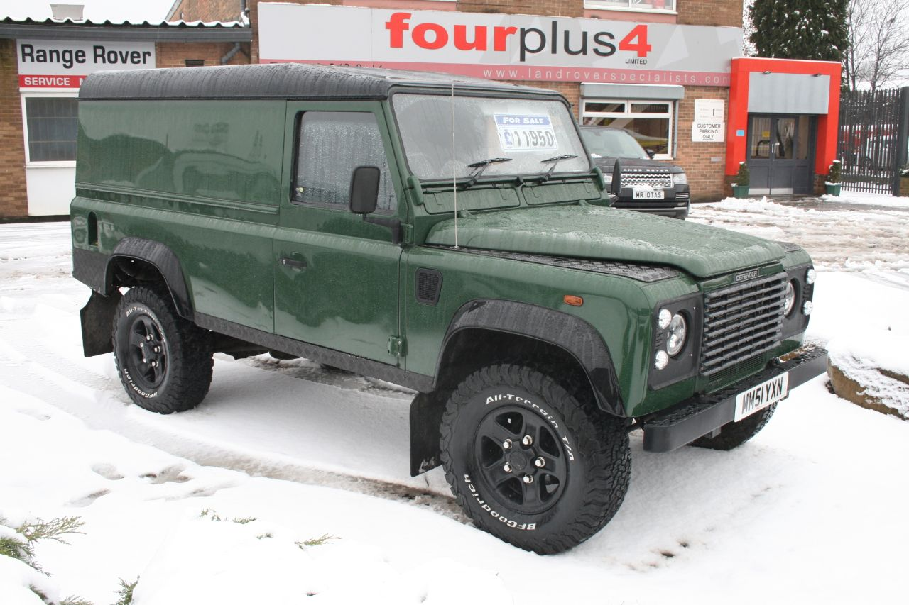 Land Rover Defender 2.5 DEFENDER 110 TD5 Four Wheel Drive Diesel Green at Four Plus 4 Leeds