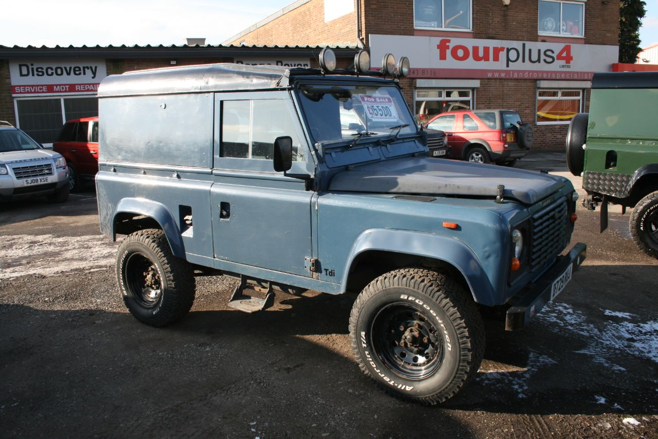 Land Rover Defender 2.5 90 200 tdI Four Wheel Drive Diesel blue at Four Plus 4 Leeds