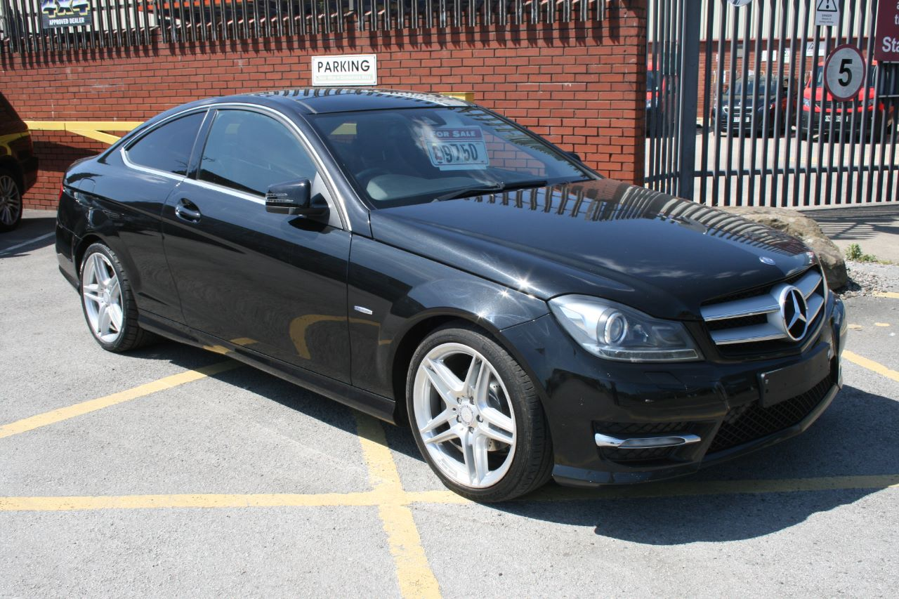 Mercedes-Benz C Class 2.1 C250 CDI BlueEFFICIENCY AMG Sport 2dr Auto Coupe Diesel Black at Four Plus 4 Leeds