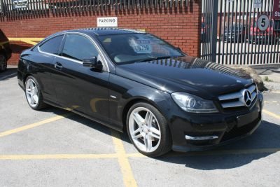 Mercedes-Benz C Class 2.1 C250 CDI BlueEFFICIENCY AMG Sport 2dr Auto Coupe Diesel BlackMercedes-Benz C Class 2.1 C250 CDI BlueEFFICIENCY AMG Sport 2dr Auto Coupe Diesel Black at Four Plus 4 Leeds